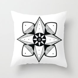 Spaced Out Mandala Throw Pillow