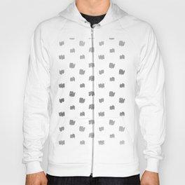 Abstract elegant faux silver geometrical brushstrokes pattern Hoody
