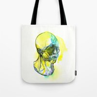 dna Tote Bags featuring DNA by Chen Li