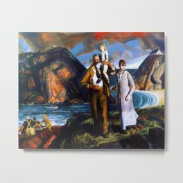 Fisherman's Family at the Coast by George Wesley Bellows Metal Print