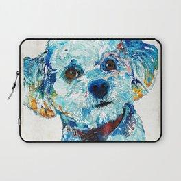 Small Cute Dog Art - Who Me? - Sharon Cummings Laptop Sleeve