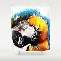 parrot Shower Curtains featuring Parrot by Regan's World