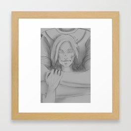 Commander's Embrace Framed Art Print