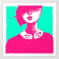 contemporary Art Prints featuring Contemporary Collar by Ben Geiger