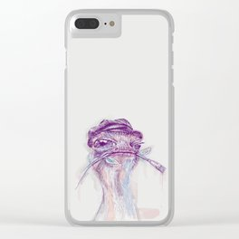 Ostrich Painter Clear iPhone Case