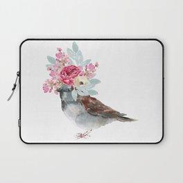 Boho Chic wild bird With Flower Crown Laptop Sleeve