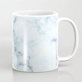 White and blue marble texture Coffee Mug
