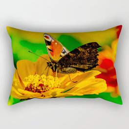 Butterfly on flower Rectangular Pillow