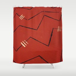 labyrinthine Shower Curtain