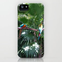 Macaws on the tree iPhone Case