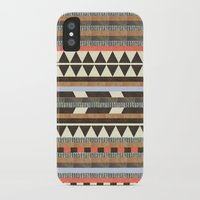 brown iPhone & iPod Cases featuring DG Aztec No.1 by Dawn Gardner