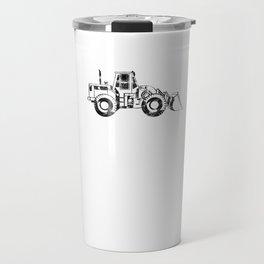 Loader Heavy Construction Equipment Digger Black Travel Mug
