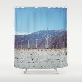 Palm Springs Windmills VII Shower Curtain