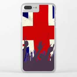 England State Flag with Audience Clear iPhone Case
