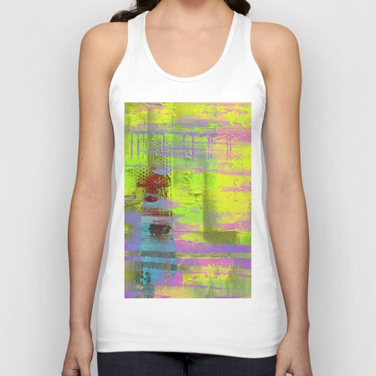 Abstract Thoughts 3 - Textured painting Unisex Tank Top