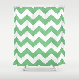 Sage Chevron Shower Curtain