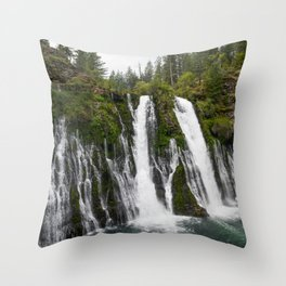 The Plunge (McArthur-Burney Falls) Throw Pillow