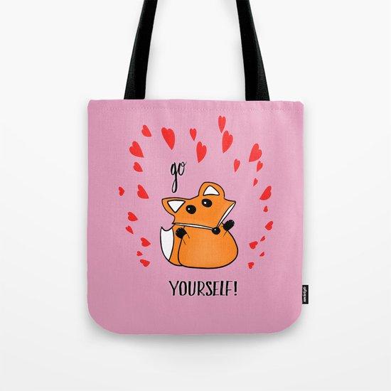 Go Fox Yourself Tote Bag