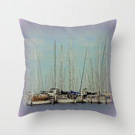 Flotilla of Yachts  Throw Pillow