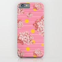 hydrangea spots and stripes Slim Case iPhone 6s
