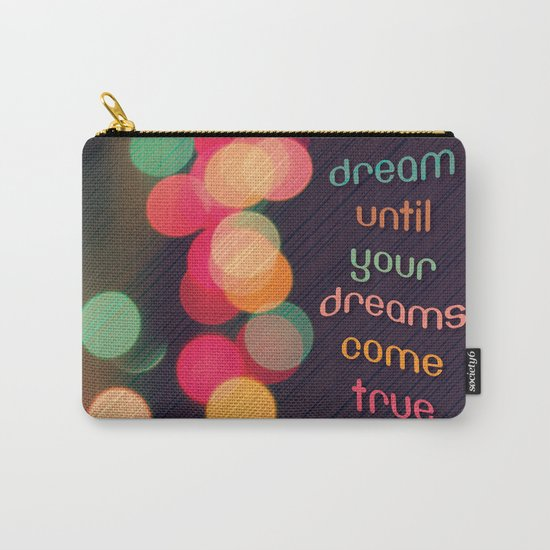 Vintage Colorful Christmas Bokeh Carry-All Pouch