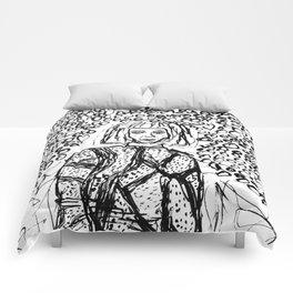 Woman Lost in the Dark Comforters