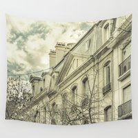 argentina Wall Tapestries featuring Neoclassical Style Buildings in Buenos Aires, Argentina by DFLC Prints