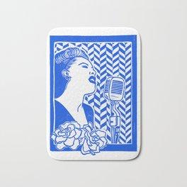 Lady Day (Billie Holiday block print) Bath Mat