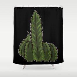 Weed Middle Finger - Cannabis Marijuana THC CBD Shower Curtain