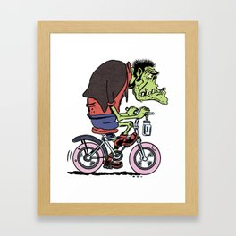 Bike Monster Framed Art Print