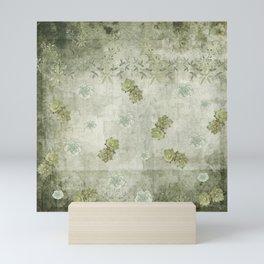 Sage Green Wallflowers Mini Art Print