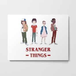 stanger things Metal Print