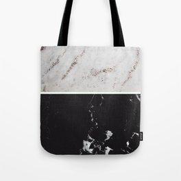 White Glitter Marble & Black Marble #1 #decor #art #society6 Tote Bag