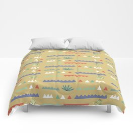 Geometrical Cacti Comforters