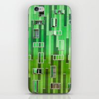 green pattern iPhone & iPod Skins featuring Green Pattern by Maria Eugenia Espino