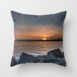 Glowing Sea Throw Pillow