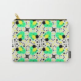 Bubbly pattern with leaves Carry-All Pouch