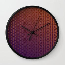 Gradient cube pattern warm Wall Clock