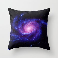 Spiral gAlAxy : Purple Blue Throw Pillow
