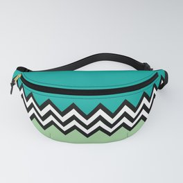Black and white zigzag design Fanny Pack