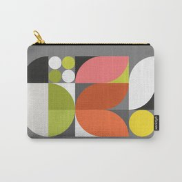 Mid Modern Geometric Bloom Carry-All Pouch