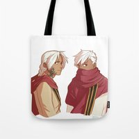 fullmetal Tote Bags featuring Ishvalan Elric Brothers by Anyeka