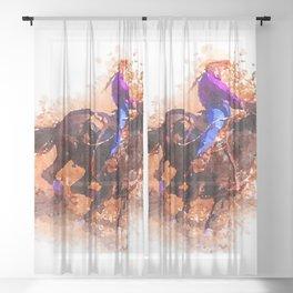 Racing Sheer Curtain
