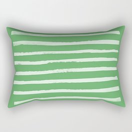 Simple Stripes - Fern Rectangular Pillow