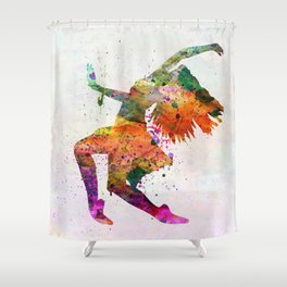 dancing to the night Shower Curtain