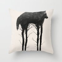 tree Throw Pillows featuring Standing Tall by Dan Burgess
