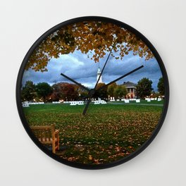 A Big Green autumn Wall Clock
