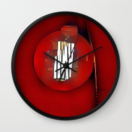 Red Lantern Wall Clock