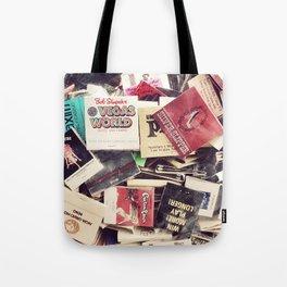 Vintage Matchbook Collection Tote Bag