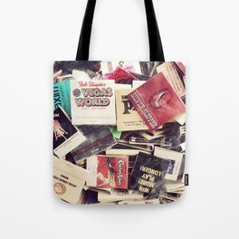 Vintage Matchbook Collection Tote Bag